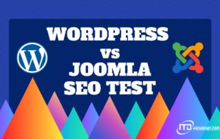 wordpress vs joomla seo test