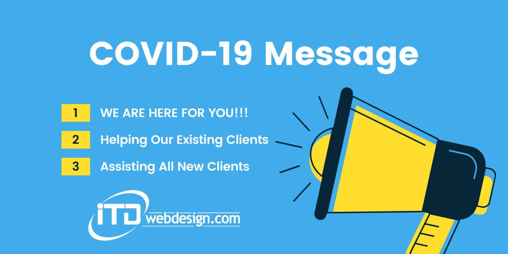 covid-19 message itdwebdesign
