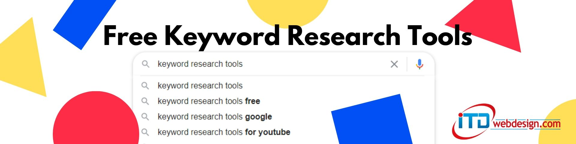 free keyword research tools banner