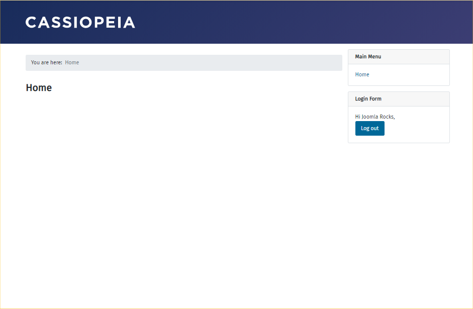 cassiopeia template 1 Joomla 4 Review: The Most Improved Joomla Version
